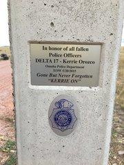 mile marker plaque
