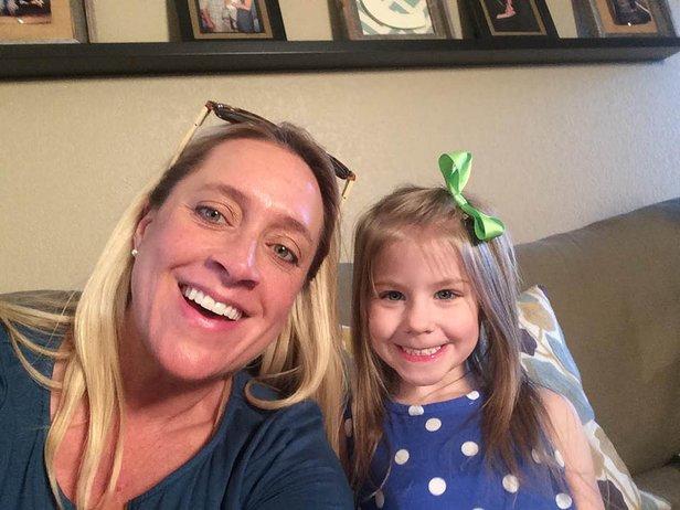 OETA Foundation's Melissa Stevener with Harper Cox, 3.