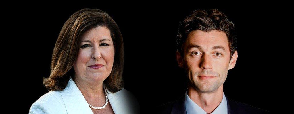 Karen Handel and Jon Ossoff Georgia 6th District Debate