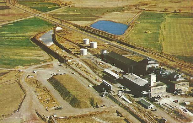 Sugar plant aerial view