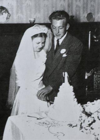 Bill Lofgren and Wife on Wedding Day