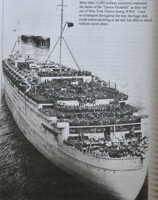 Queen Elizabeth at New York Harbor