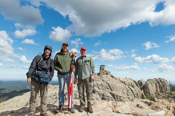 Survey crew on Harney Peak-2016