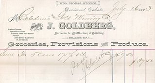goldberg's grocery receipt