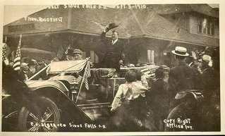 Teddy Roosevelt in a Fawick Flyer