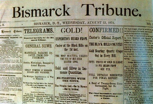 bismarck ND newspaper headline image
