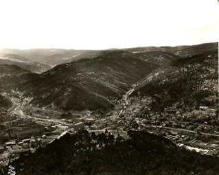 Aerial view of Deadwood
