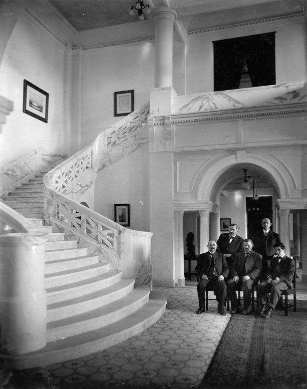 Interior of the Mead Building ca. 1909
