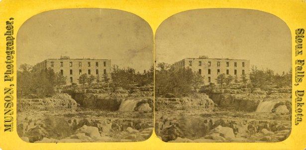 Queen Bee Mill under construction ca. 1880
