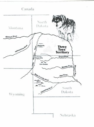 map of three toes' territory