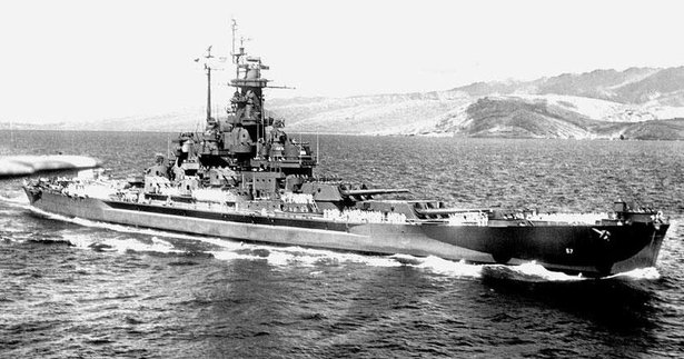 uss south dakota underway
