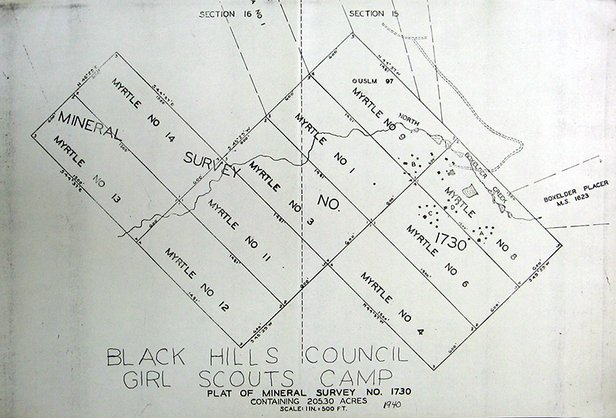 diagram of girl scout camp