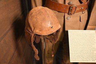 world war one airman's helmet