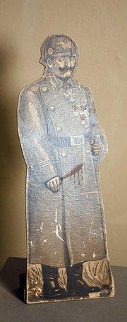 paper cutout of Kaiser Wilhelm