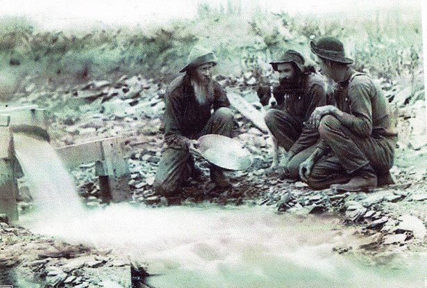 panning for gold, 1889
