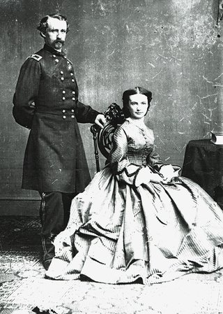 Libby and G.A. Custer married