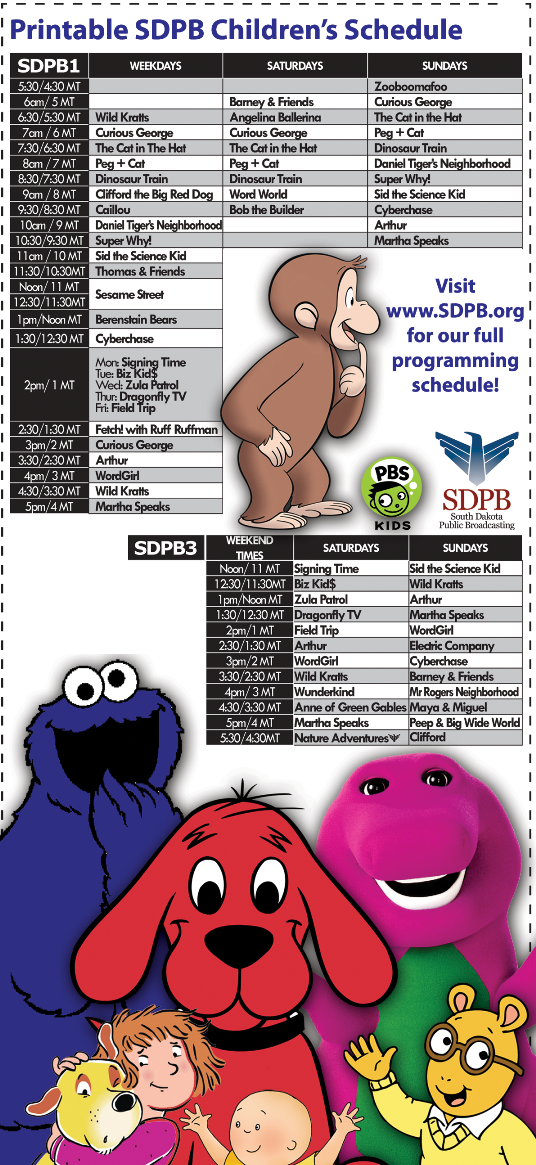 SDPB Children's Schedule