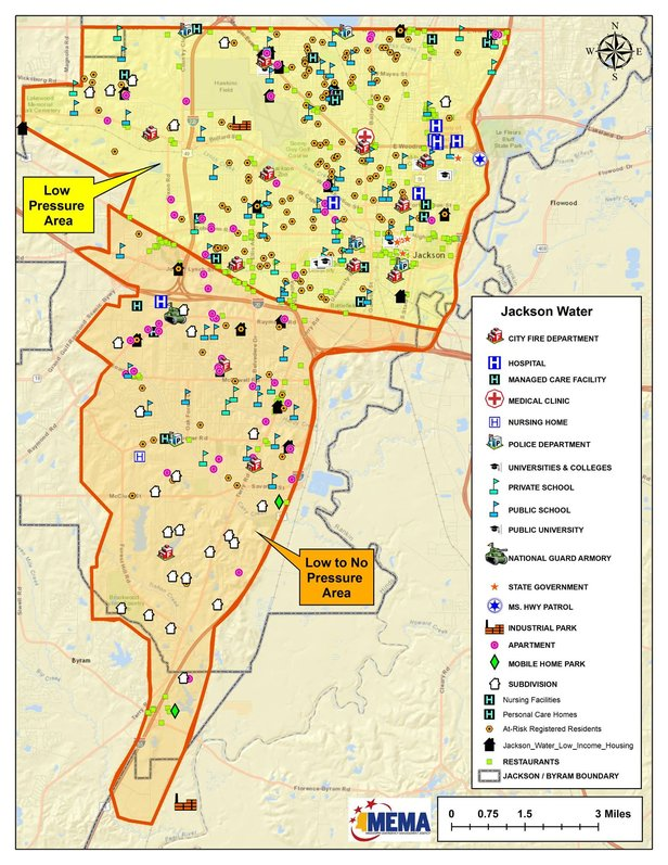 Jackson Water Outage Map