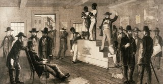 Slave auction, Virginia, 1861