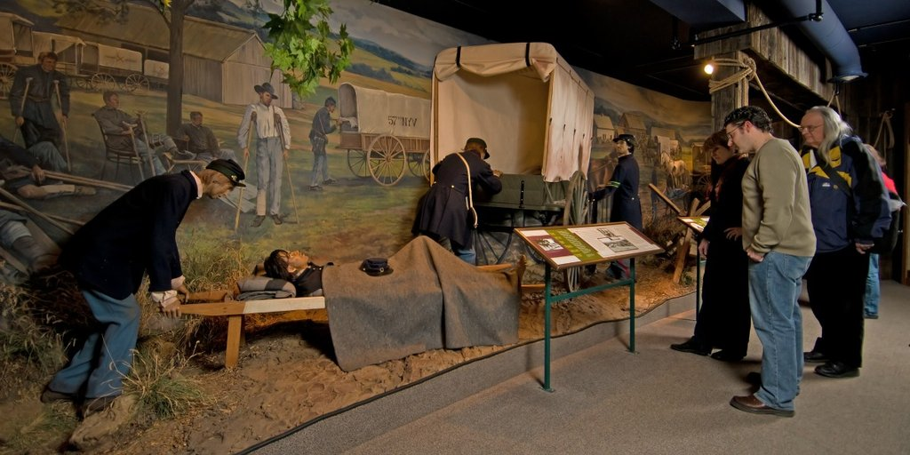 An exhibit at the National Museum of Civil War Medicine