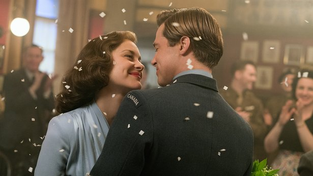 "Marion Cotillard and Brad Pitt star in ""Allied."""