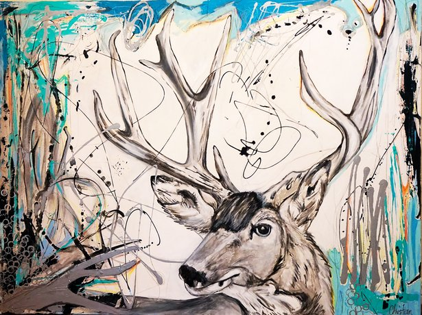 """Modern Ranch Deer"" by Christian Price Frazer"