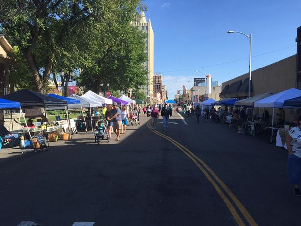Amarillo Community Market will shift locations slightly Saturday to the Santa Fe Building parking lot.