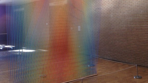 "Gabriel Dawe will speak about his ""Plexus No. 33"" installation Friday at Amarillo Museum of Art."