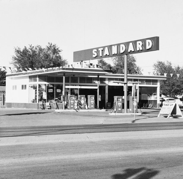 """Standard Station, Amarillo, Texas, 1962"" by Ed Ruscha"