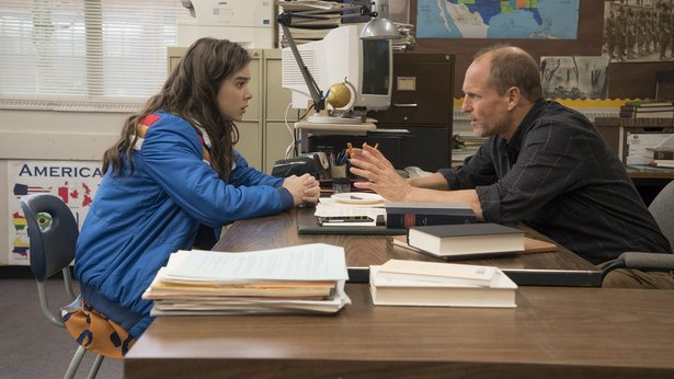 "Hailee Steinfeld and Woody Harrelson star in ""The Edge of Seventeen."""