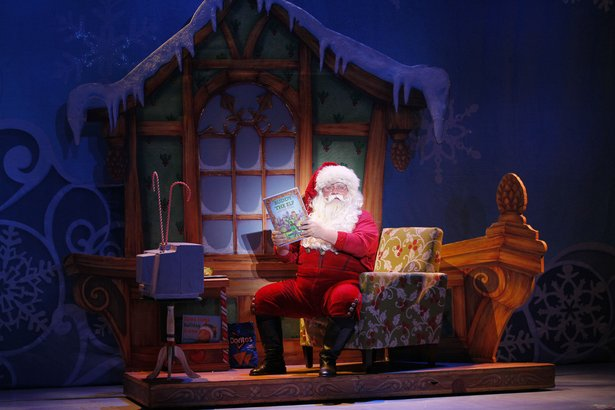 "Ken Clement stars as Santa Claus in ""Elf the Musical."""