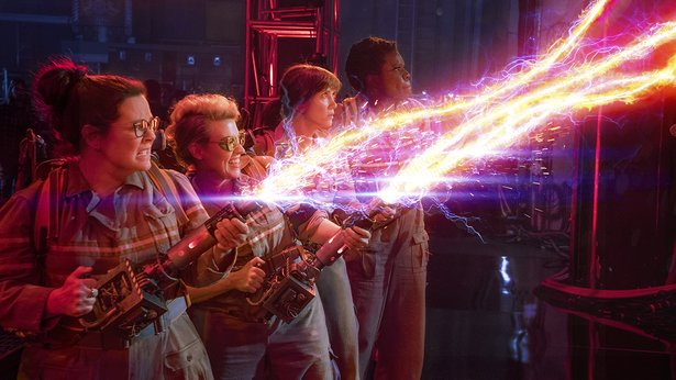 "Melissa McCarthy, Kate McKinnon, Kristin Wiig and Leslie Jones star in ""Ghostbusters,"" the 2016 edition."