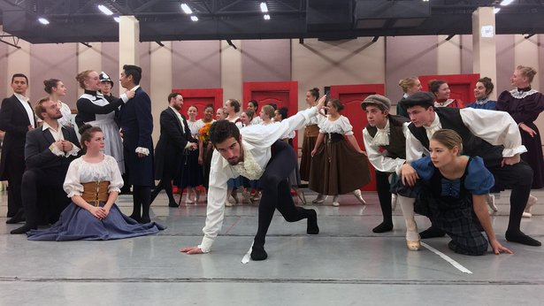 """The cast of Lone Star Ballet's """"Jekyll and Hyde"""" rehearses for performances Friday and Saturday."""