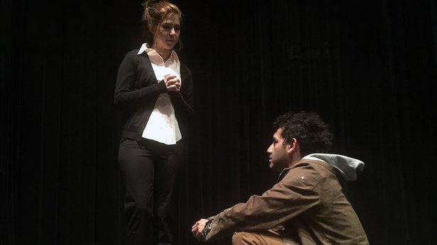"Tressa Cardwell and Alastair Sigala Ramirez star in TheatreAC's ""King of Shadows."""