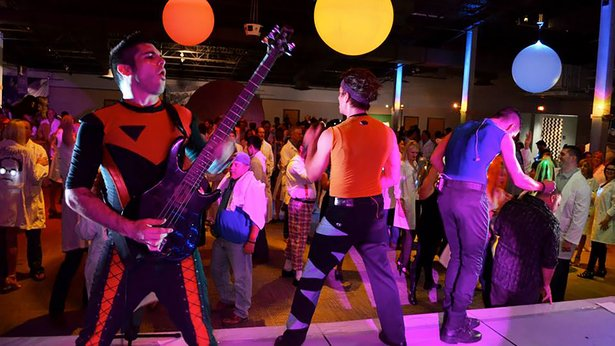 The Space Rockers will perform again at Discovery Center's Mad Scientist Ball on Saturday.