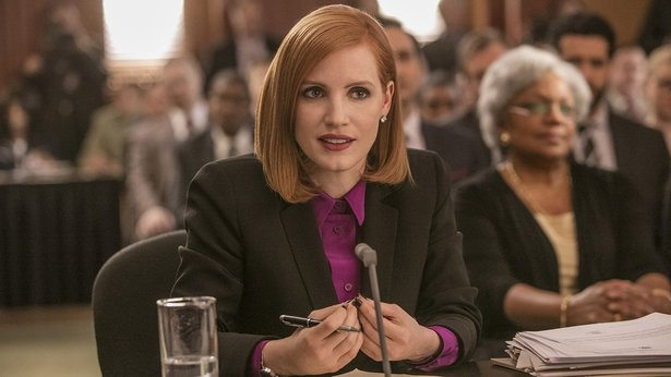 "Jessica Chastain stars as a ruthless lobbyist in the drama ""Miss Sloane."""
