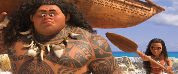 """Moana"" features Dwayne Johnson as Maui and Auli'i Cravalho as the title character."