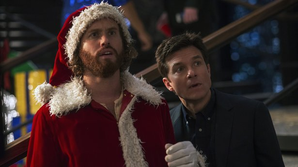 "T.J. Miller and Jason Bateman star in the new comedy ""Office Christmas Party."""