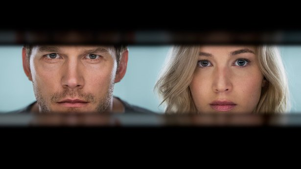 """Chris Pratt and Jennifer Lawrence star in """"Passengers,"""" due out Dec. 21."""