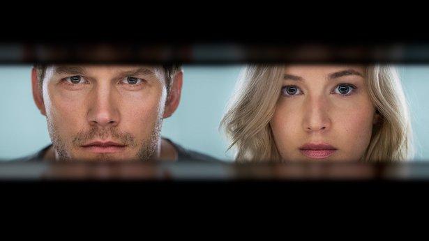 "Chris Pratt and Jennifer Lawrence star in the sci-fi drama ""Passengers."""