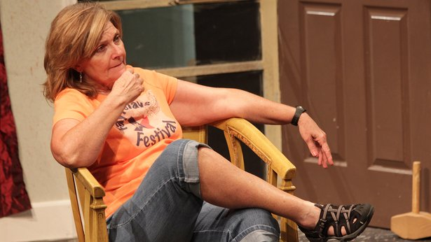 "Rhonda Lynn (Robin Downs) is skeptical of her sister's plans in ""Southern Hospitality."""