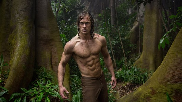 "Alexander Skarsgård and his abs star in ""The Legend of Tarzan."""