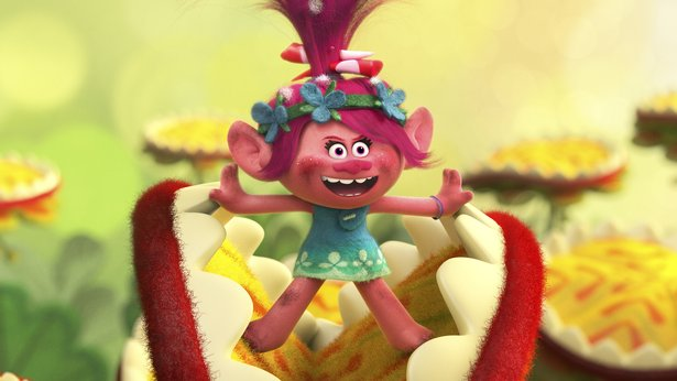"Poppy (Anna Kendrick) sets off on a rescue mission in ""Trolls."""