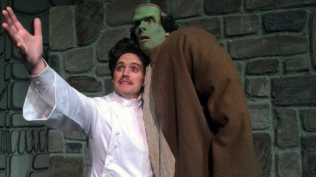 "Stephen Crandall and Zeke Lewis star in Amarillo Little Theatre's ""Young Frankenstein."""