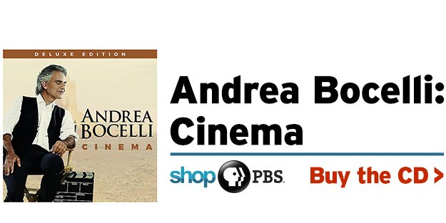 Shop PBS: Andrea Bocelli: Cinema (CD)