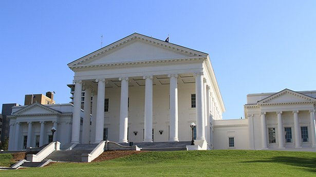 The Virginia State Capital building.
