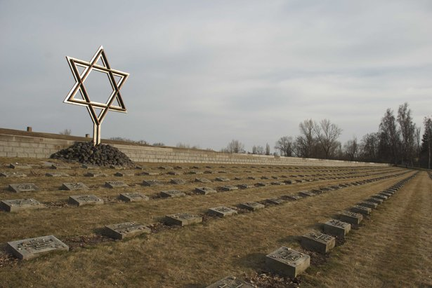 Graves of prisoners in Terezin during the World War II.