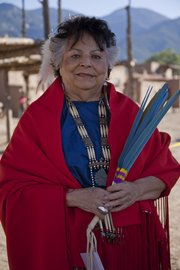 LaDonna Harris (Comanche) in traditional regalia.