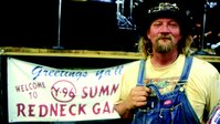 """Randy """"L-Bow"""" Tidwell, master of ceremonies at the annual Redneck Games in East Dublin, Georgia."""