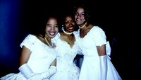 Three debutantes on their big night at the cotillion in Charlotte, North Carolina.